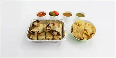 catering burrito platter