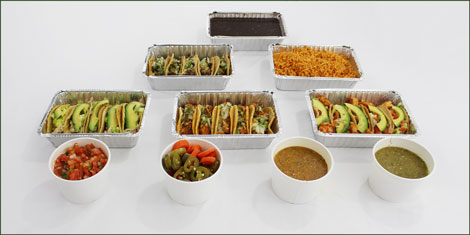 Catering taco platter