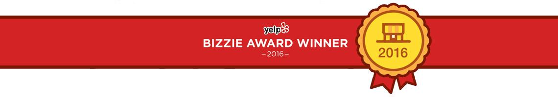 yelp bizzie award recipient